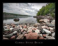 "COBBLE STONE BEACH - 24"" x 30"""